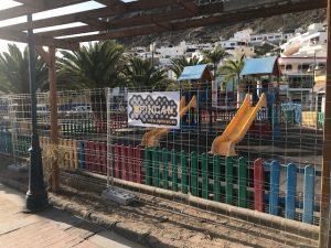 Opincan comienza la obra de los 14 parques de Mogan