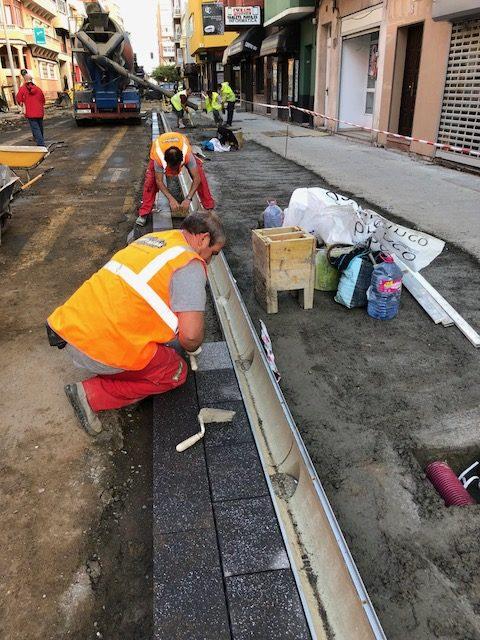Trabajos de pavimentación