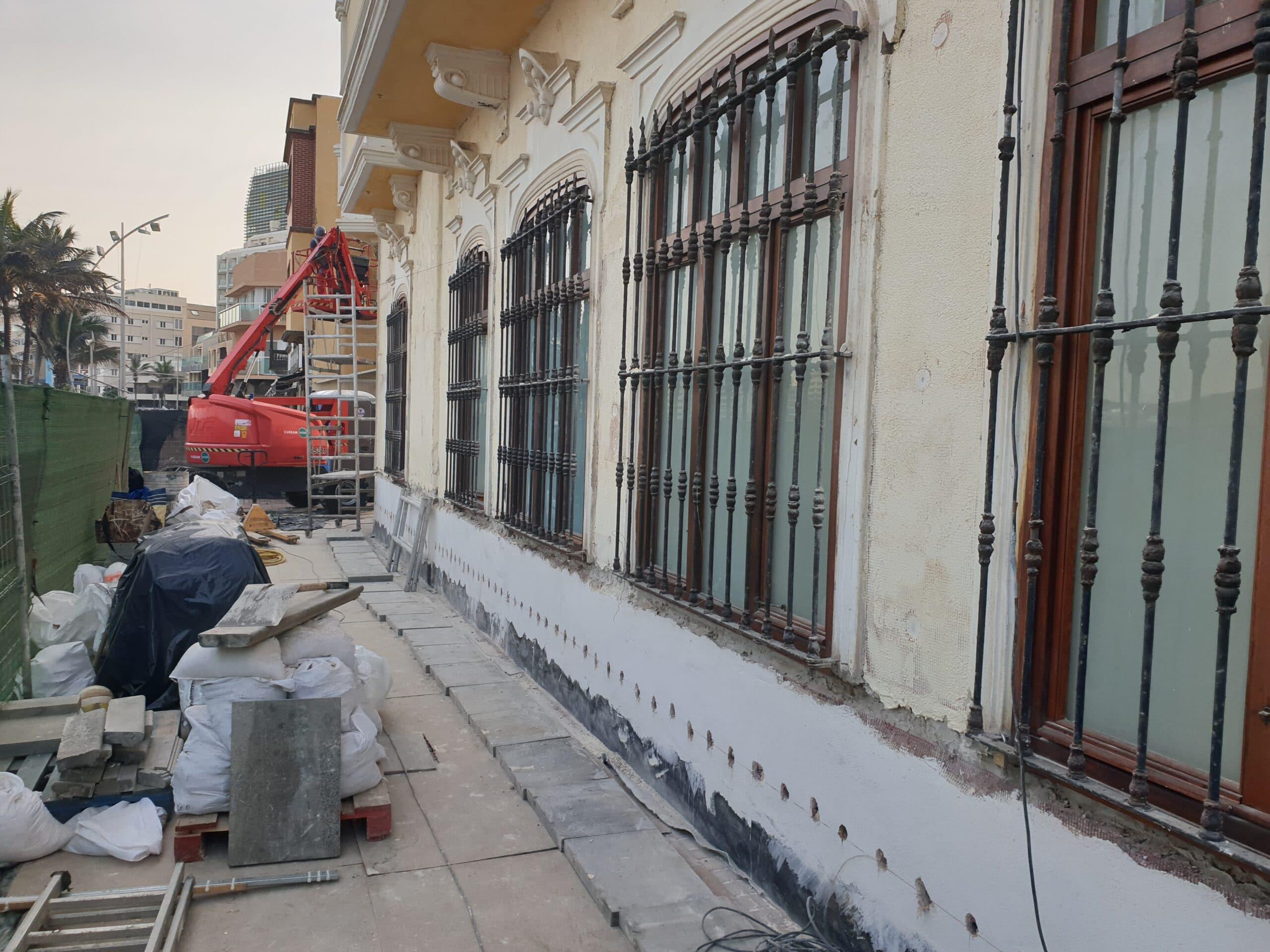 Conservación de fachadas Subdelegación de Defensa de Las Palmas.