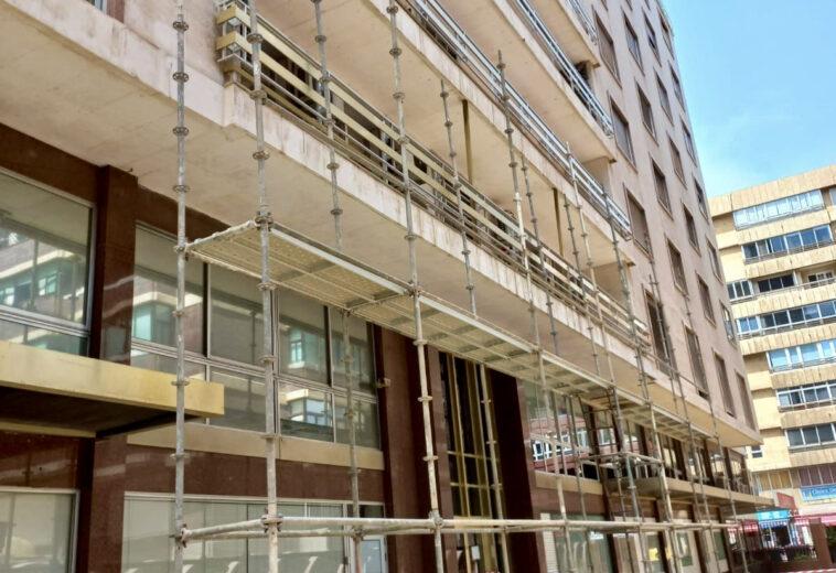 Rehabilitación de balcones de fachadas, elementos de cubierta y patios comunitarios Edificio Vitalicio